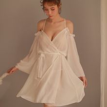 Sexy Lace Loose Suspender Sleepwear Low Chest Princess Long Sleeping Woman Lingerie Low cut Straps Nightgown Nightdress