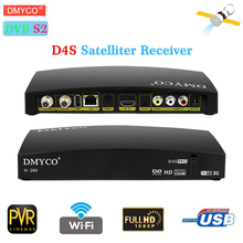 New satellite receiver decoder D4S PRO decodificador satelital tv tuner dvb s2 h.265 hd receiver Support 3G WIFI PowerVu youtube
