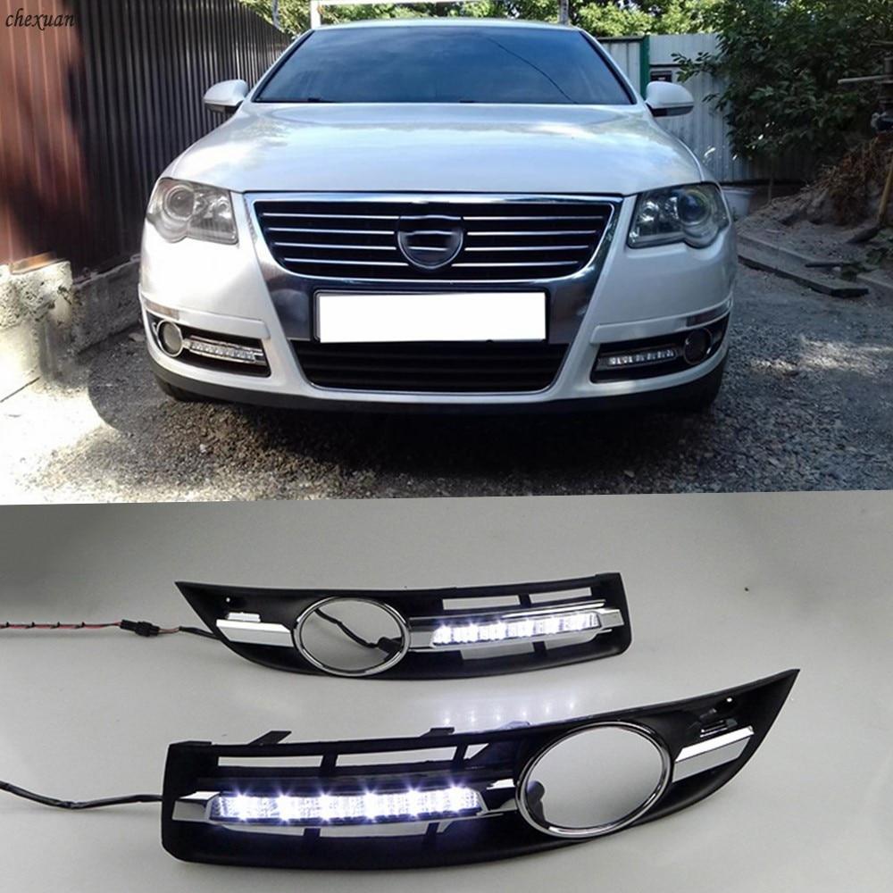 CSCSNL 1 комплект светодиодный льные светодиодные дневные хосветильник для Volkswagen VW Passat B6 2005 2006 2007 2008 2009 2010 2011 противотуманные фары