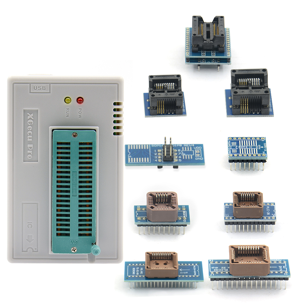 Sinstar original V8 51 TL866ii Plus programmer 10 Adapters minipro TL866 programmer socket NAND programmer adapter