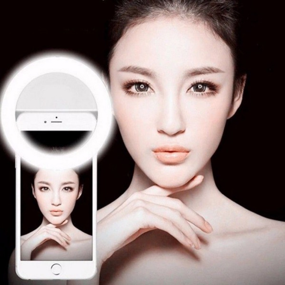 New Selfie Ring Light Portable Flash Led Camera Phone Photography Enhancing Photography for Smartphone iPhone Samsung