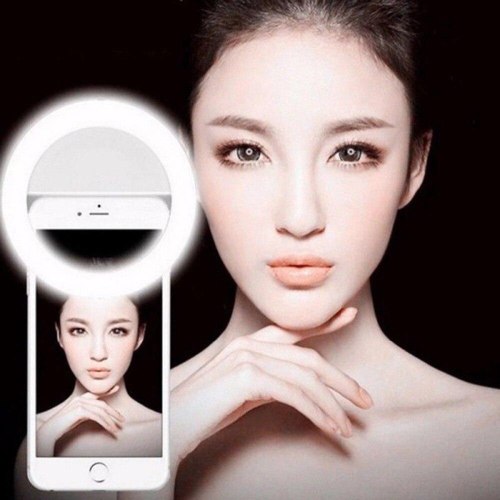 Nuevo anillo Selfie Luz Portátil Flash Led Cámara teléfono fotografía mejora fotografía para Smartphone iPhone Samsung