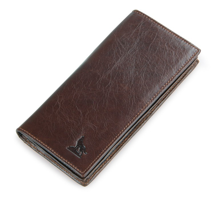 100% Genuine Leather Mens Coffee Wallet Business Credit Card Holder Coin ID Purse # 8011-1Q