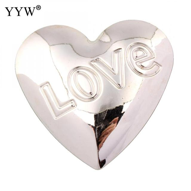 Fashion plastic pendants for necklace pendant copper flat heart word fashion plastic pendants for necklace pendant copper flat heart word love sliver color plated with letter mozeypictures Choice Image