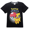 New Year Pokemon Boys T-Shirt Summer T-Shirts For Boys Cartoon Cotton Pikachu Kids Clothing Baby Boy Clothes For 3-10 Years Old
