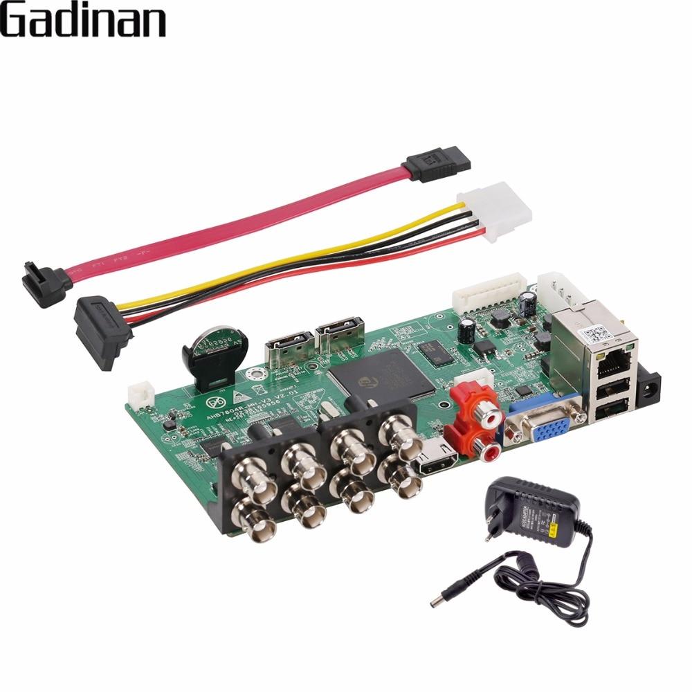 GADINAN 8CH XVI AHDNH 1080N DIY DVR Main PCB Board 4CH Support 8 Channel AHD 1080N/4CH 1080P Playback  IP AHD TVI CVI 5 In 1 DVR