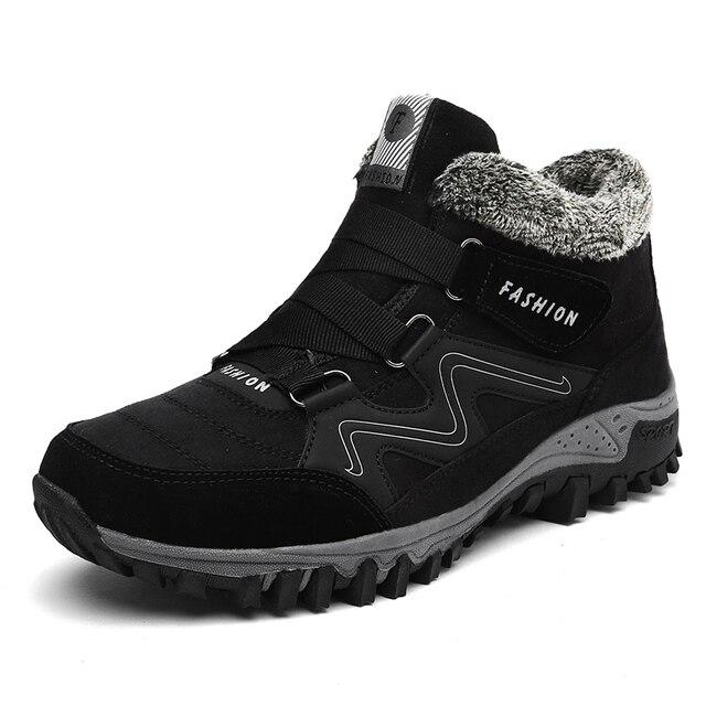 Snow Running Shoes >> Winter Men Snow Running Boots 2018 Waterproof Fur Sport Shoes Female