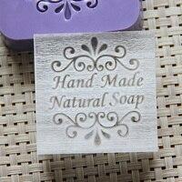2016 Free Shipping Natural Handmade Acrylic Soap Seal Stamp Mold Chapter Mini Diy Natural Patterns Organic