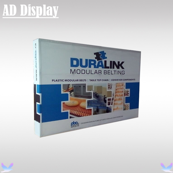 Stretch Fabric Exhibition Stands : Ft straight exhibition fabric banner pop up backwall
