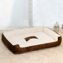 Pet Dog Bed Warming Dog House Soft Material Pet Nest Dog Fall and Winter Warm Bed For Cat Puppy Plus size shipping