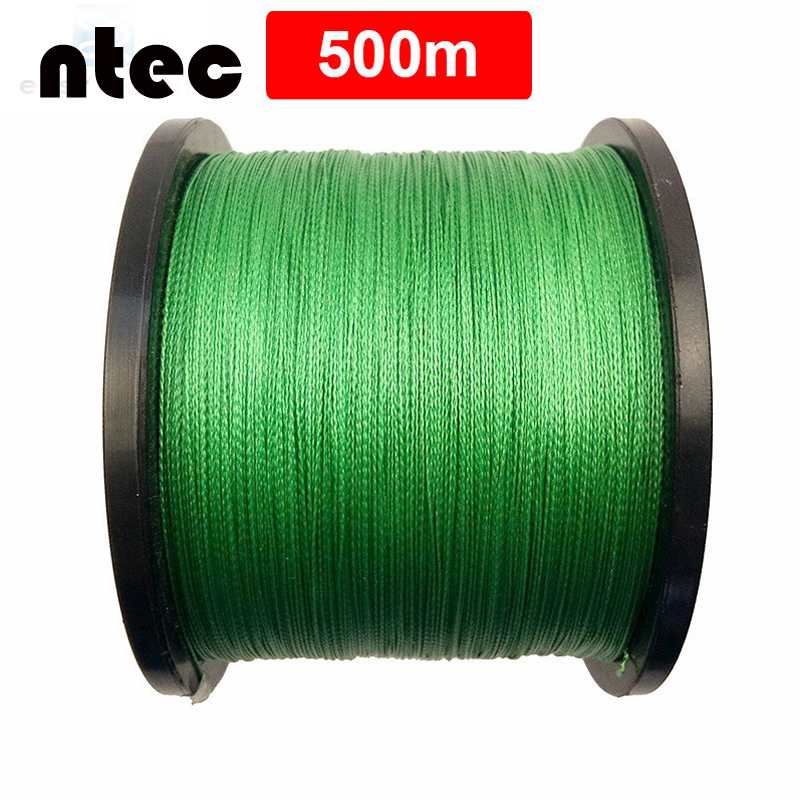 Hot New 500m 4x Braided Fishing Line Green color Super PE Line Strong Strength