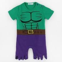 Baby Boys Hulk Costume Romper Funny Infant Onesie