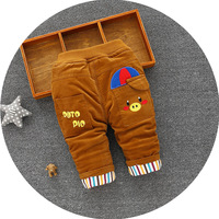 2017 Bebek Giyim Baby Pants Winter Models Korean Girls Casual Pants Corduroy Lovely Warm Trsousers Children Cute Pant