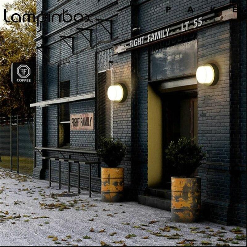 где купить 10W Outdoor Waterproof Wall Lamp IP65 LED Wall Light Round Indoor Decoration Bedroom Beside Lamp Corridor Garden Lighting LP05 дешево