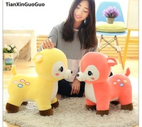about 40cm cartoon sika deer plush toy down cotton very soft doll birthday gift s0678