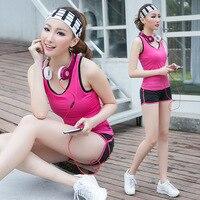Yoga Suit Female Spring/summer Dance Show Thin Vest Shorts Suits Gym Running Uniforms