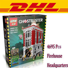 2016 New lepin 16001 4695Pcs Ghostbusters Firehouse Headquarters Model Minifigure Building Blocks toys Compatible with Legoe