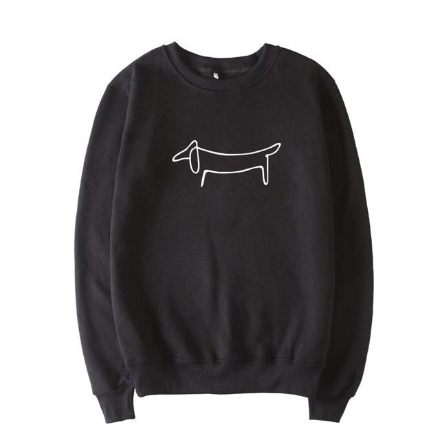 8ab08e51b Simple Drawing Dachshund Design Sweatshirt Women Spring Autumn Fleece Cute  Hoodie Pullover Long Sleeve Plus Size For Men C83601
