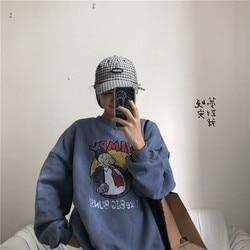 YouGeMan Best Friends Sweatshirt Autumn Winter Ulzzang Harajuku Vintage Funny Fleece Pullover Hoodies Women Long Sleeve Sweat 2