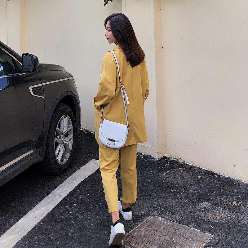 Women's suit female spring 2019 autumn new loose casual suit wide leg pants two-piece temperament retro fashion elegant clothes