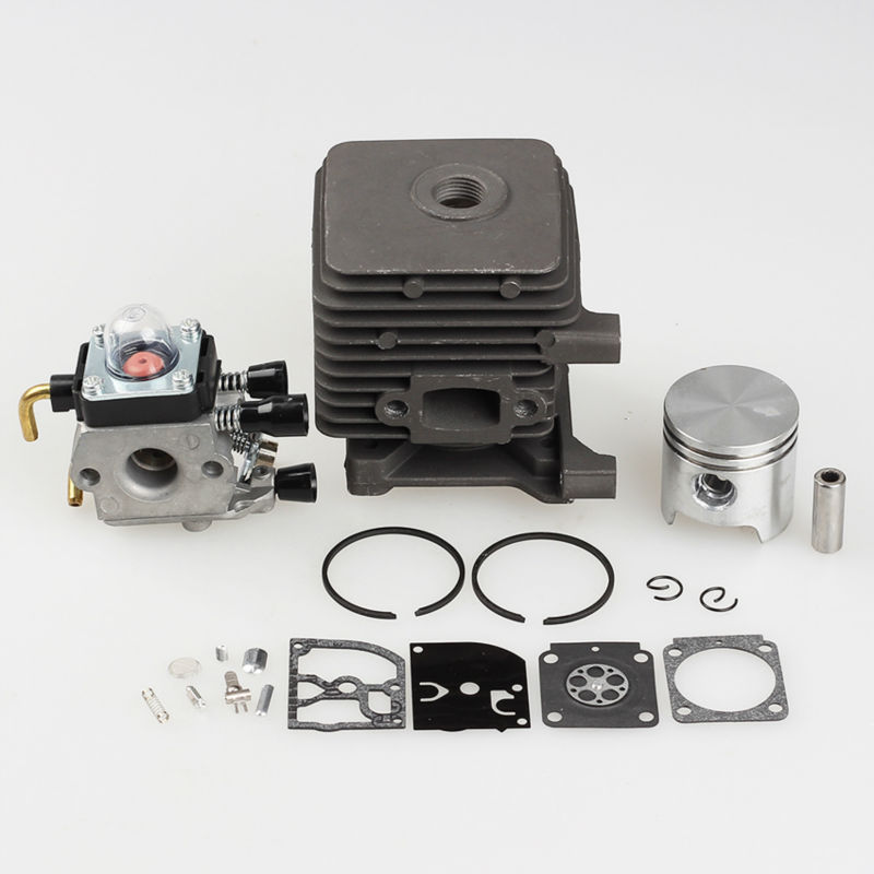 Cylinder Piston Kits with Carburetor Carb Fit STIHL FS55 FS45 BR45 KM55 HL45 HS45 KM55 HL45 HS45 HS55 TRIMMER 34mm 38mm cylinder barrel piston kit