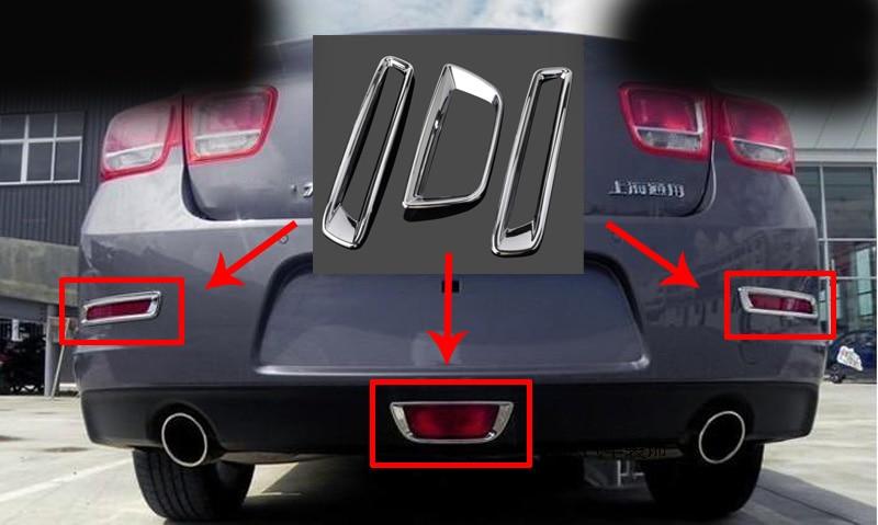 3pcs for Chevrolet Malibu 2012-2015 Rear fog lamp frame Fog lamp shade Fog box Decorative article Electroplate sticker