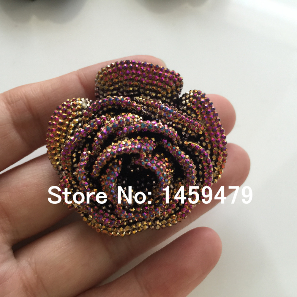 New 3D Flowers Large Resin AB Color Stick On Crystals Rhinestones DIY Craft  art Accessory Stones 4pcs 47mm-in DIY Craft Supplies from Home   Garden on  ... 576dcccc1c01