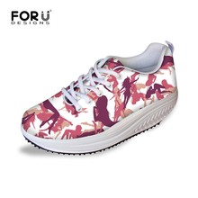 2016 Fashion Shoes Women Camouflage Slimming Lady Fitness Shoes increasing Trendy Health Lady Beauty Lace-up Wedges Swing Shoes