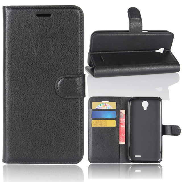 Luxury PU Leather Wallet Flip Case Pouch + Card Slot Phone Cover For ZTE Prestige 2 N9136/Maven 3 Z835/Prelude+ Z851/Overture 3