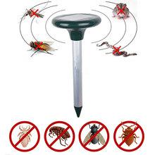 Stoczni ultradźwiękowy Solar gryzoni Mole ogród przyjazne dla środowiska słonecznego Escaper kreatywny wydajne sterowanie odstraszacz komarów tanie tanio Brak Ultradźwiękowe Odstraszacze szkodników