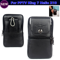 Luxury Genuine Leather Carry Belt Clip Pouch Waist Purse Case Cover For PPTV King 7 Helio