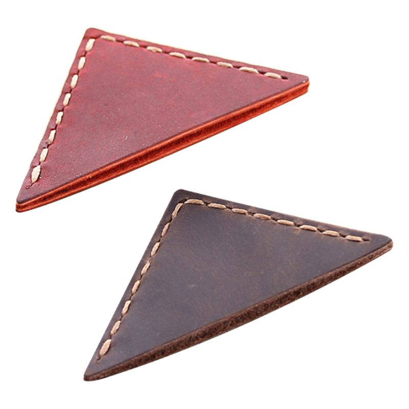 Triangle Bookmark Handcrafted Leather Reading Marking Accessories Corner Page Maker Gift For Book Lover Readers Teacher