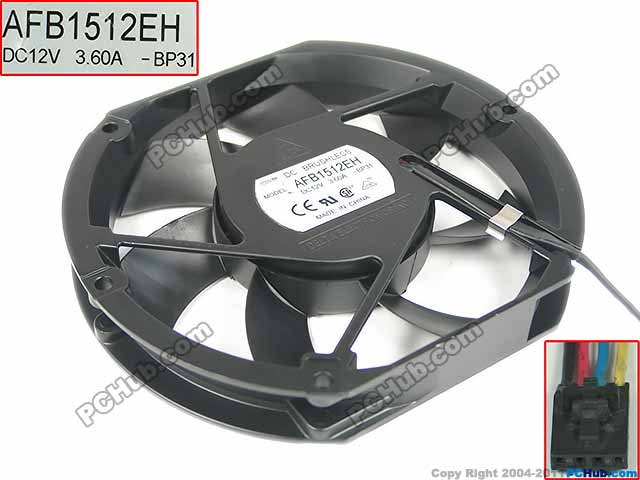Delta AFB1512EH BP31 DC 12V 3.60A 172x150x25mm Server Square fan new original bp31 00052a b6025l12d1 three wire projector fan