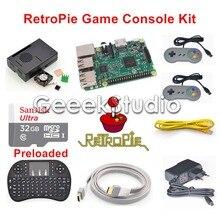32 GB RetroPie Spielkonsole Kit mit Raspberry Pi 3 Modell B SNES Controller Gamepad Joypad Joystick