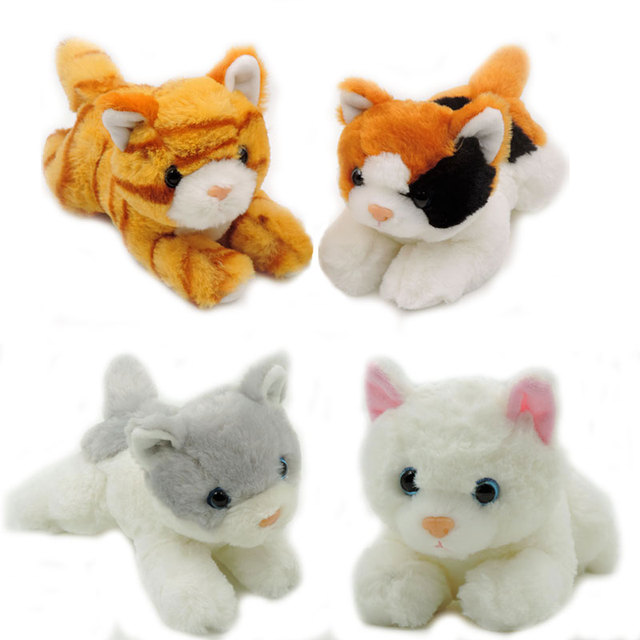 4pcs Lot 20cm Small Cute Plush Kittens Kids Toys Stuffed Animals
