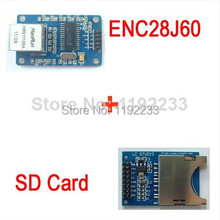 ENC28J60 Ethernet LAN Network Module Schematic For Arduino 51 AVR LPC+SD Card Module Slot Socket Reader For Arduino ARM MCU
