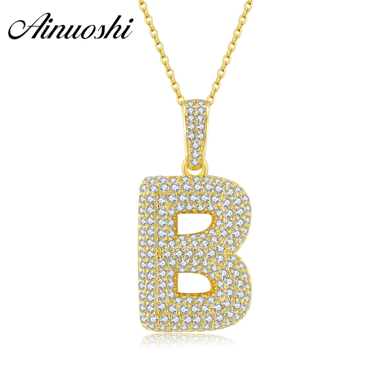 AINUOSHI 10K Gold 26 Letter Pendant SONA Diamond 20mm Separate Pendant Gift for Women Men A to Z Alphabet Initial Letter PendantAINUOSHI 10K Gold 26 Letter Pendant SONA Diamond 20mm Separate Pendant Gift for Women Men A to Z Alphabet Initial Letter Pendant