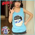 Most original Osomatsu-san Karamatsu Kara Itai Blue Sleeveless Shirt Top Vest Cosplay Costume