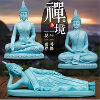 Free Shipping Sandstone Buddha Sculpture High Quality Creative Blue Character Statue Sculpture Crafts Decoration Gift