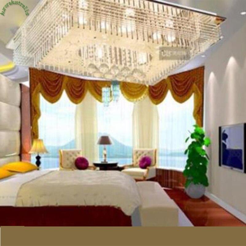 Led Color Light Rectangular Chandelier Living Room Omdern