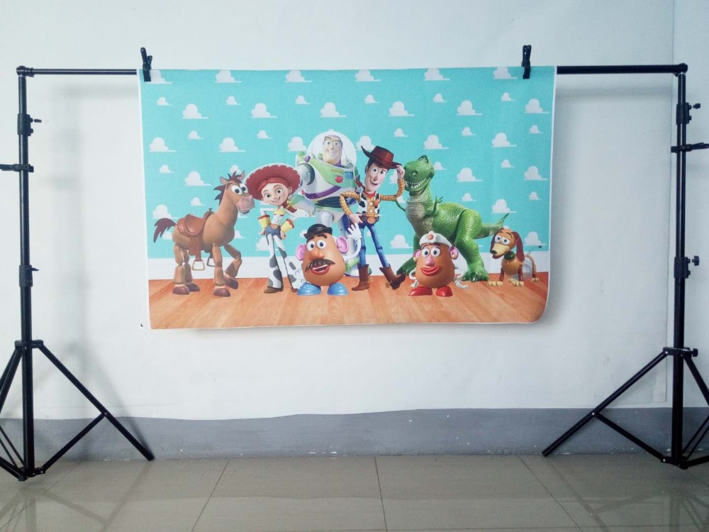Image 3 - Photography backdrops Cartoon toy story candy Children Birthday party Studio Background Customize backgrounds for photo studio-in Background from Consumer Electronics