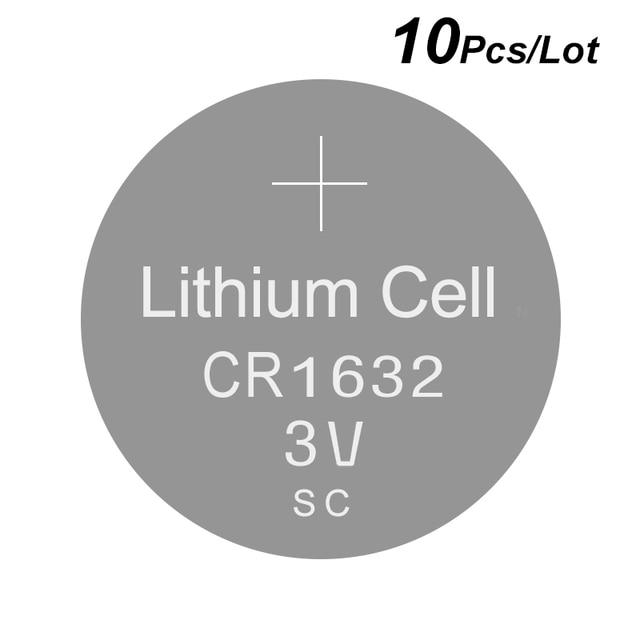 ליתיום כפתור לחצן סוללות CR1632   3V שעון סוללה CR 1632