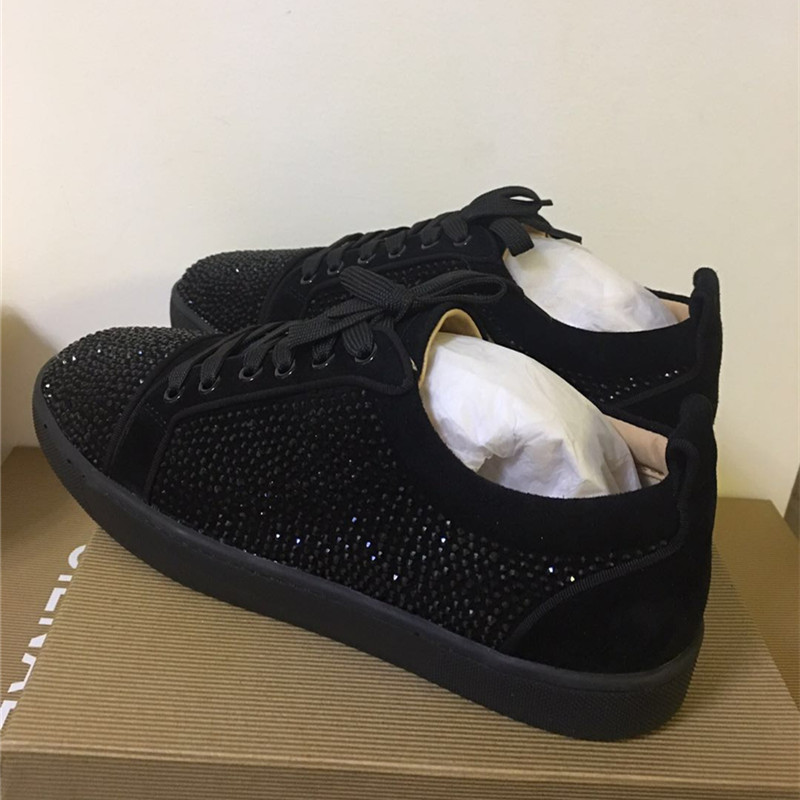 FNJACK Fashion Shoes Authentic Black Suede & Strass Swarovski Louis - Տղամարդկանց կոշիկներ - Լուսանկար 5