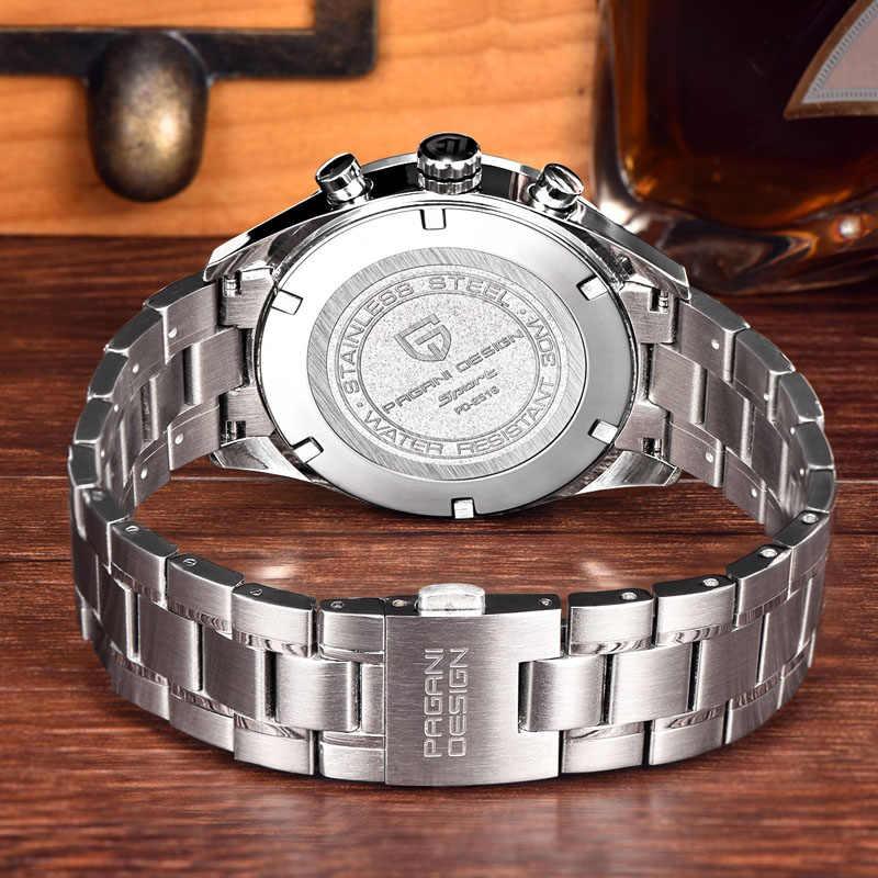Luksusowa marka PAGANI projekt biznes zegarki chronograf mężczyźni wodoodporny 30 m japoński zegarek kwarcowy zegar mężczyźni reloj hombre