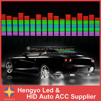 90*25CM Car music rhythm led decoration light/car Voice control lamp/ music lamp/Sound Music Activated Equalizer Stickers
