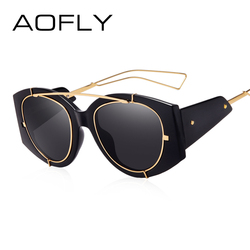 AOFLY BRAND DESIGN Women Sunglasses Fashion Lady Sun glasses Oversized Frame Retro Vintage Shades Female Oculos de sol