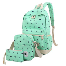 Hot Selling 3PCS/Lot Fashion Women's Backpack School bag for Students High Quality Durable Canvas Backpack for Girls Teenagers