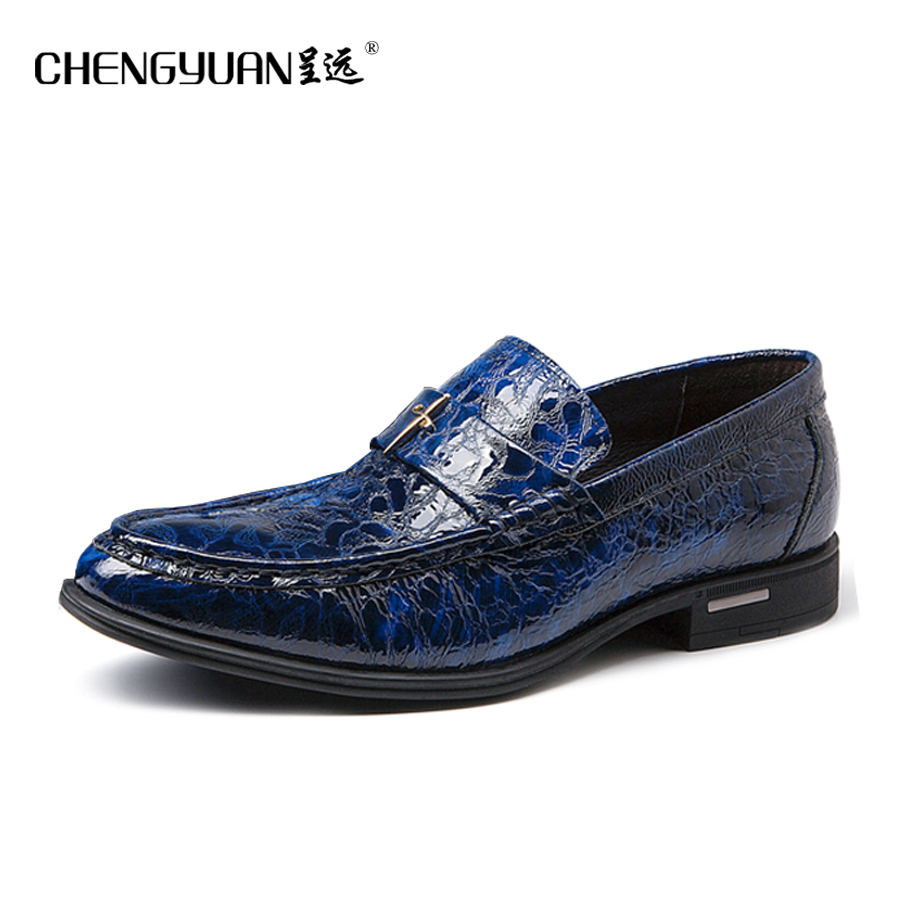 Men flats luxury leather shoes casual dress shoe men comfortable black blue yellow large size Wedding Shoes CY713