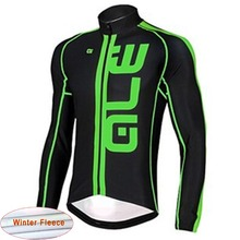 ALE 2018 Winter thermal fleece bike clothes men cycling jersey bib pants mtb sport wear road bicycle
