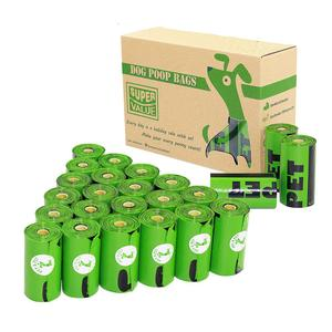 Image 2 - Pet N Petย่อยสลายได้Poopกระเป๋าเป็นมิตรกับสิ่งแวดล้อม360/720นับ24/48ม้วน15ไมครอนสีเขียวขยะกระเป๋า
